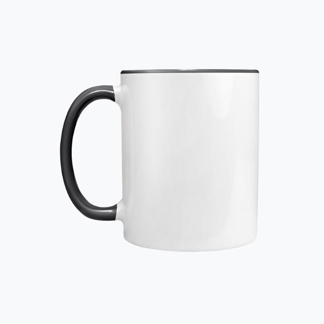 Mug with black handle
