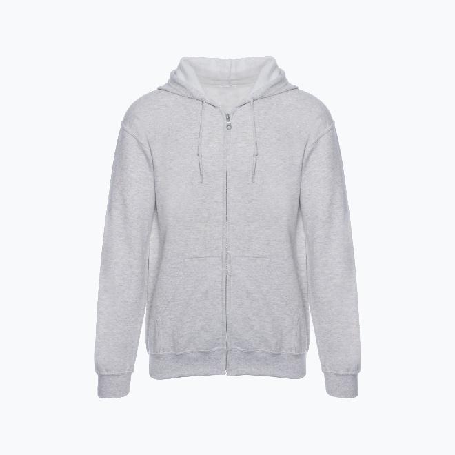 Unisex basic zipper hoodie