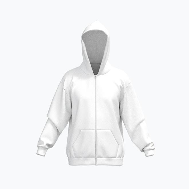 Unisex full print Zipper Hoodie